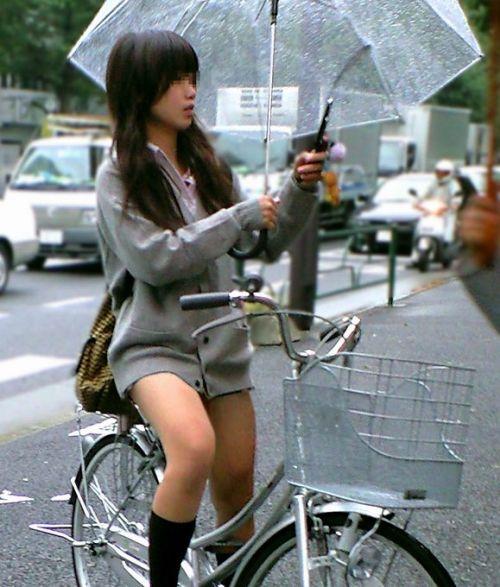【三次画像あり】 JK自転車パンチラ女子高生集めたから貼ってくよ~♪ 54枚 part.14 No.44