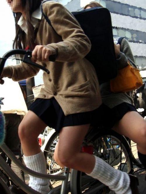 【三次画像あり】 JK自転車パンチラ女子高生集めたから貼ってくよ~♪ 54枚 part.14 No.47