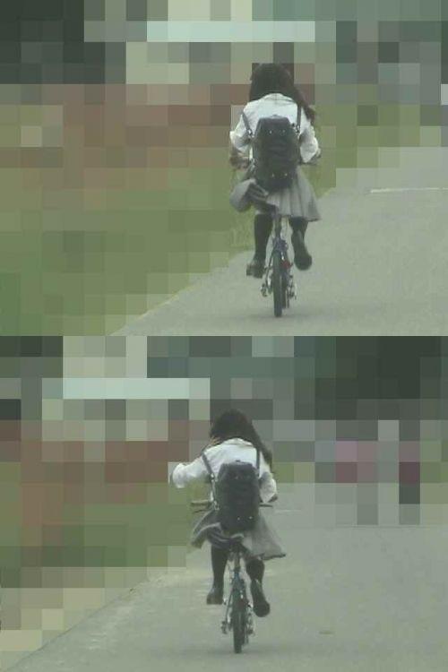 【三次画像あり】 JK自転車パンチラ女子高生集めたから貼ってくよ~♪ 54枚 part.14 No.50