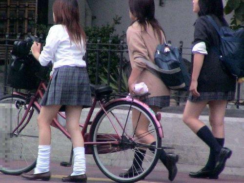 【三次画像あり】 JK自転車パンチラ女子高生集めたから貼ってくよ~♪ 54枚 part.14 No.51