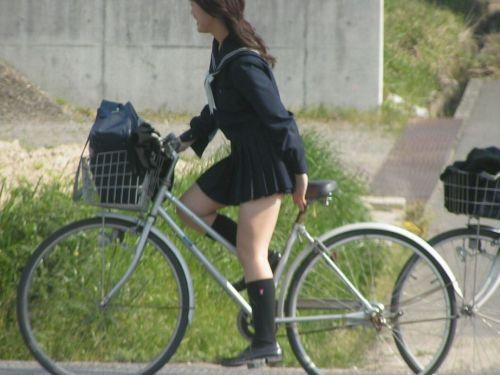 【三次画像あり】 JK自転車パンチラ女子高生集めたから貼ってくよ~♪ 54枚 part.14 No.52