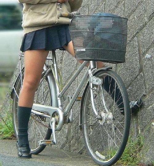 【三次画像あり】 JKがミニスカで自転車に乗ってる姿を後ろから眺めるの幸せすぎ♪ 56枚 part.13 No.3