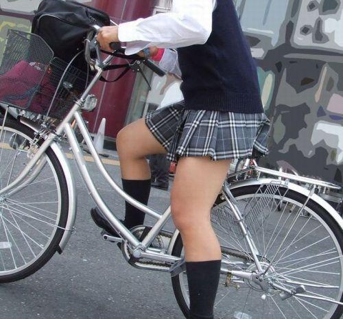 【三次画像あり】 JKがミニスカで自転車に乗ってる姿を後ろから眺めるの幸せすぎ♪ 56枚 part.13 No.5