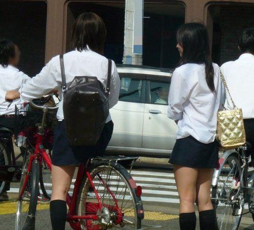 【三次画像あり】 JKがミニスカで自転車に乗ってる姿を後ろから眺めるの幸せすぎ♪ 56枚 part.13 No.6