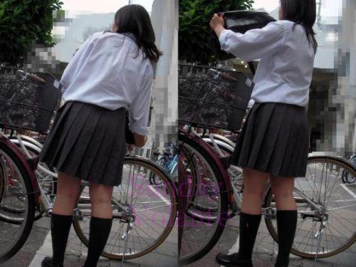 【三次画像あり】 JKがミニスカで自転車に乗ってる姿を後ろから眺めるの幸せすぎ♪ 56枚 part.13 No.9
