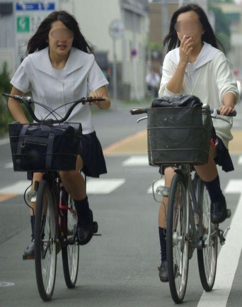 【三次画像あり】 JKがミニスカで自転車に乗ってる姿を後ろから眺めるの幸せすぎ♪ 56枚 part.13 No.10