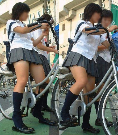 【三次画像あり】 JKがミニスカで自転車に乗ってる姿を後ろから眺めるの幸せすぎ♪ 56枚 part.13 No.11