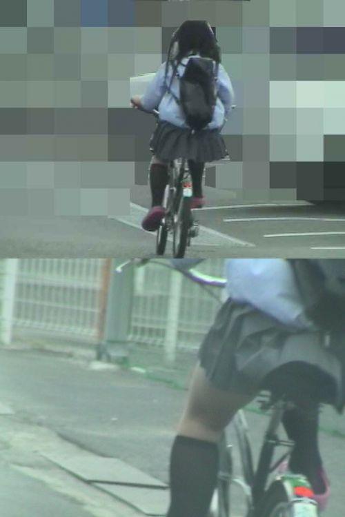 【三次画像あり】 JKがミニスカで自転車に乗ってる姿を後ろから眺めるの幸せすぎ♪ 56枚 part.13 No.13