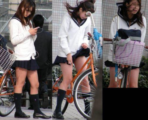 【三次画像あり】 JKがミニスカで自転車に乗ってる姿を後ろから眺めるの幸せすぎ♪ 56枚 part.13 No.23