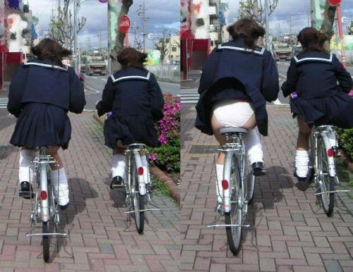 【三次画像あり】 JKがミニスカで自転車に乗ってる姿を後ろから眺めるの幸せすぎ♪ 56枚 part.13 No.31