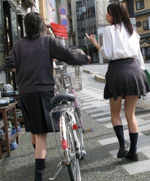 【三次画像あり】 JKがミニスカで自転車に乗ってる姿を後ろから眺めるの幸せすぎ♪ 56枚 part.13 No.34