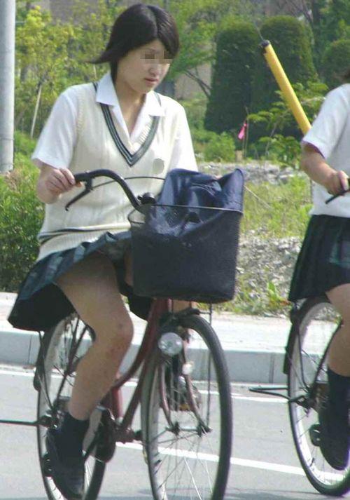 【三次画像あり】 JKがミニスカで自転車に乗ってる姿を後ろから眺めるの幸せすぎ♪ 56枚 part.13 No.44