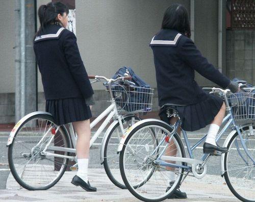 【三次画像あり】 JKがミニスカで自転車に乗ってる姿を後ろから眺めるの幸せすぎ♪ 56枚 part.13 No.48