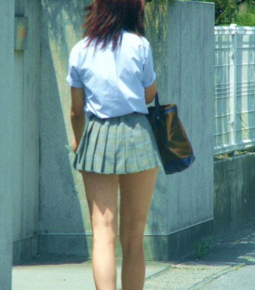 ミニスカートのJKの太ももを街撮り盗撮したエロ画像でウォームングアップしようぜ! 53枚 part.28 No.28