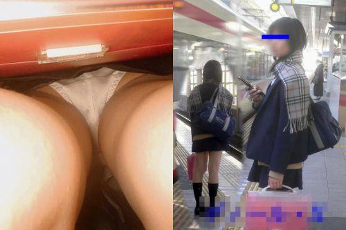 【三次・逆さ撮り画像】 真面目そうな制服JKの下着って意外とエロそうじゃね?? 56枚 part.12 No.40