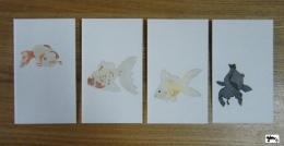 ぽち袋金魚-1~4 サイン