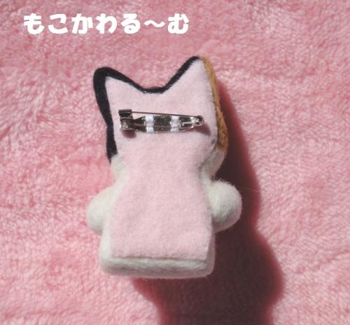 三毛猫ブローチ3
