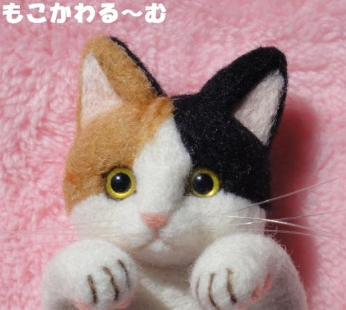三毛猫ブローチ4