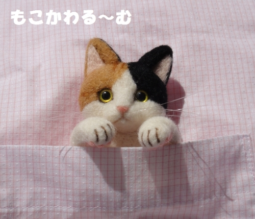 三毛猫ブローチ6