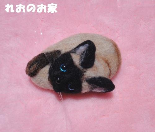 シャム猫ブローチ1