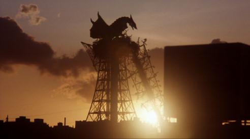 特撮怪獣映画史に残る、美しいカット