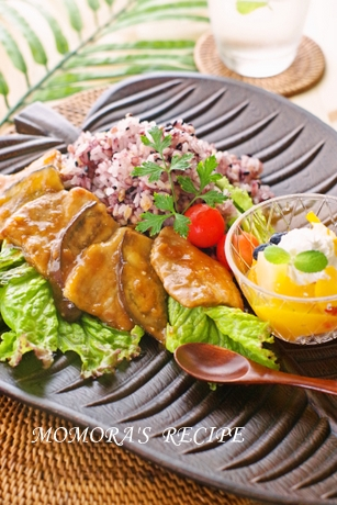 豚茄子スタミナ丼 (3)
