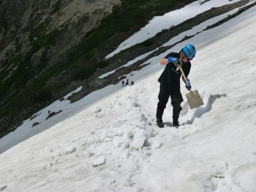 小雪渓ステップ切り