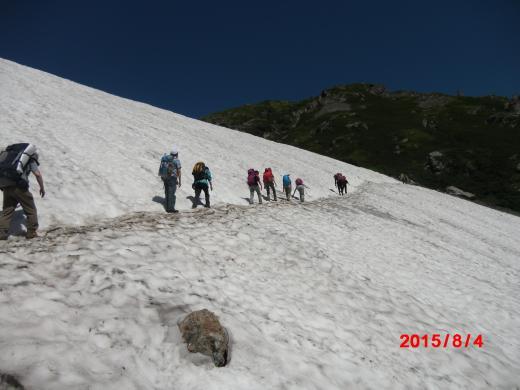 現在の小雪渓