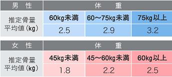 日本人の20-40歳台の平均的な推定骨量