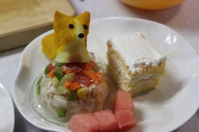 シンプル麦さんケーキ