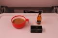 食後のチョコとコーヒーとコニャックエアフランスのエコノミー