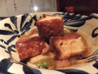 ヘチマと高野豆腐の味噌煮
