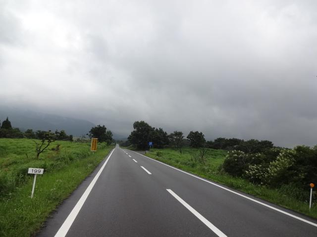 牧の戸峠方面は曇り