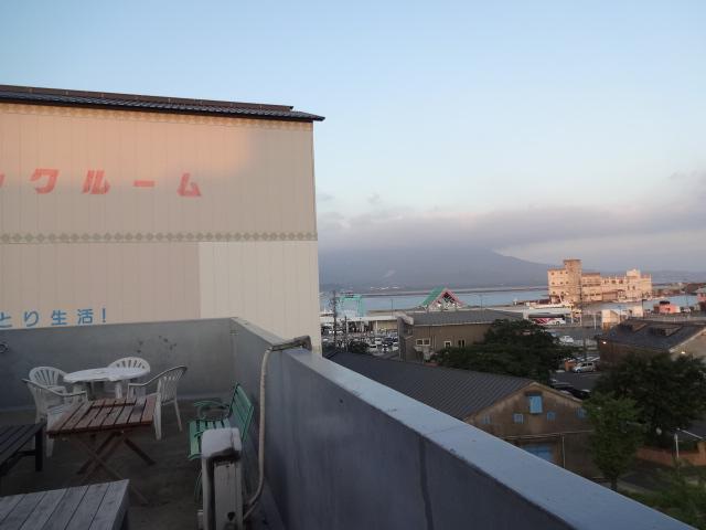 屋上より桜島