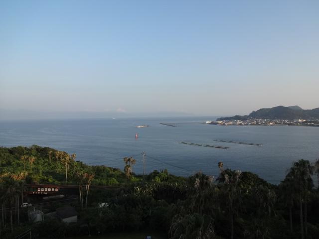 夕焼けの山川港