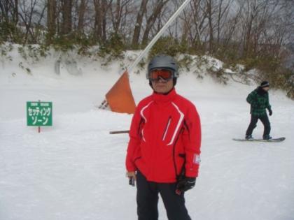 ハチキタ・スキー場でロッカー・スキーの初すべり