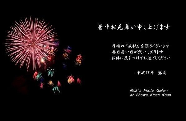 Firework at Showa Kinen Koen