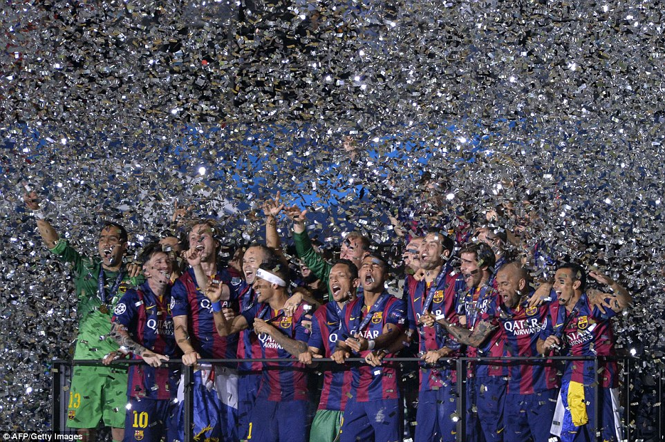 Barcelona celebrate their fifth European crown
