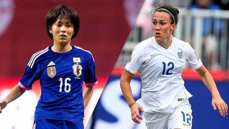 Mana Iwabuchi and Japan face Lucy Bronze
