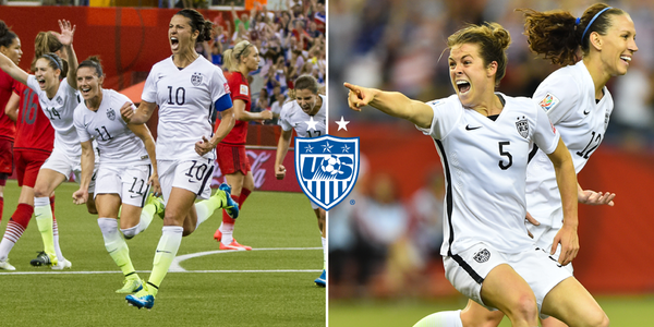 CarliLloyd and kohara19 rocking their GoalFace