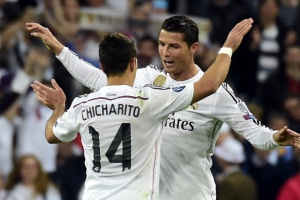 Chicharito seals Real Madrid derby win with help from Ronaldo