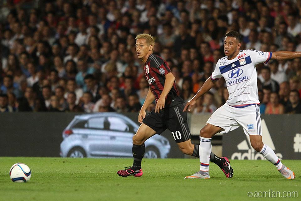 honda Olympique Lyonnais vs AC Milan 2-1