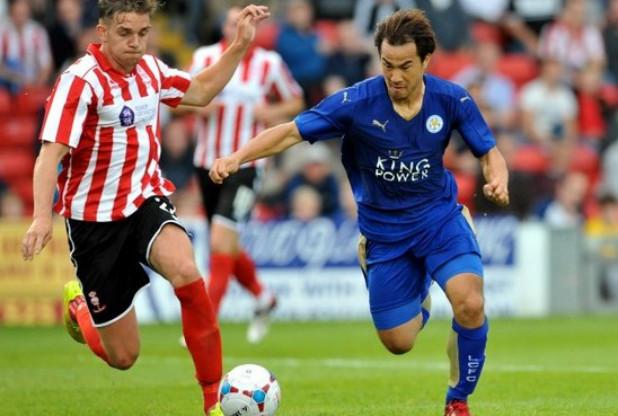 okazaki shinji Leicester City Lincoln