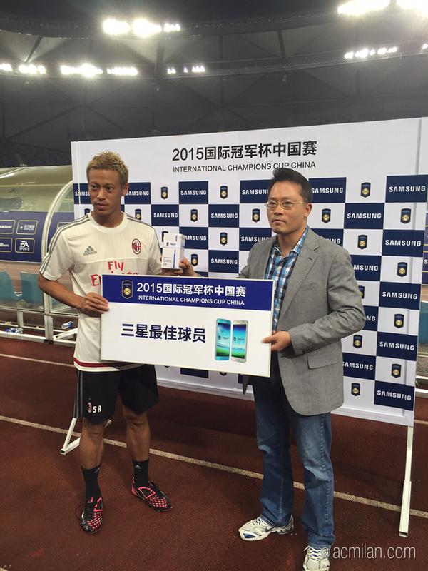 Keisuke Honda was the match MVP! weareinChina