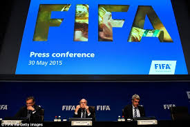 Blatter gave a speech before answering questions from members of the media at FIFA HQ