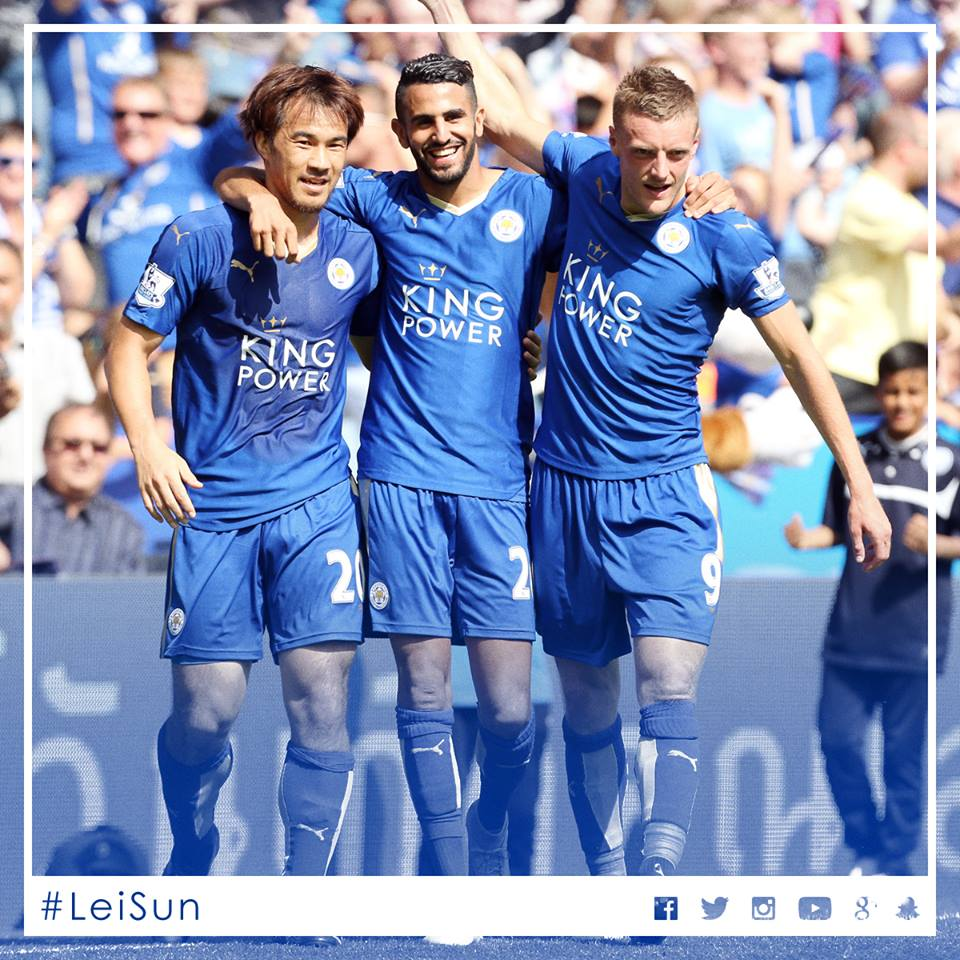lcfc start the 201516 Premier League season with a 4-2 win over Sunderland
