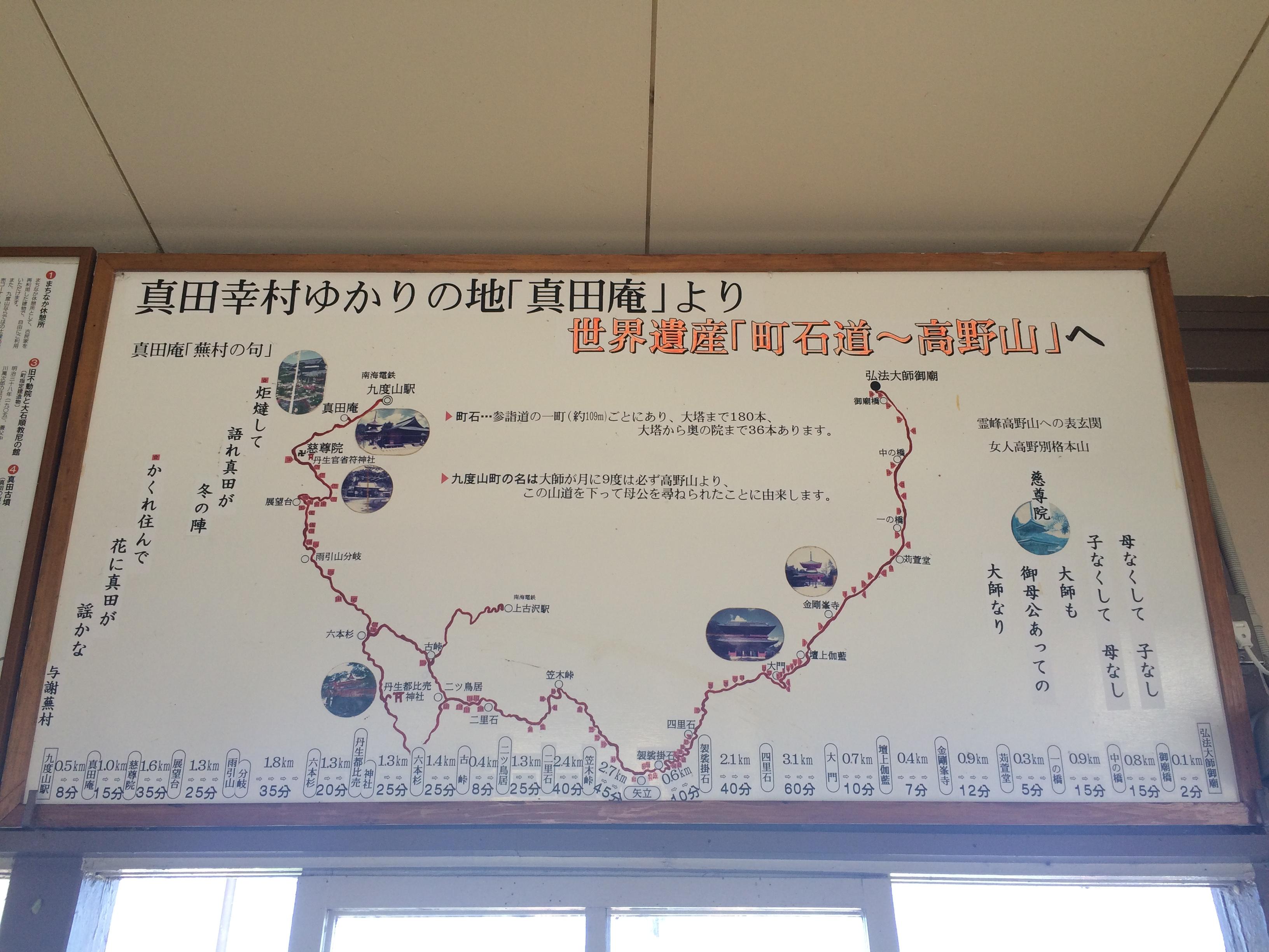 九度山駅町石道看板