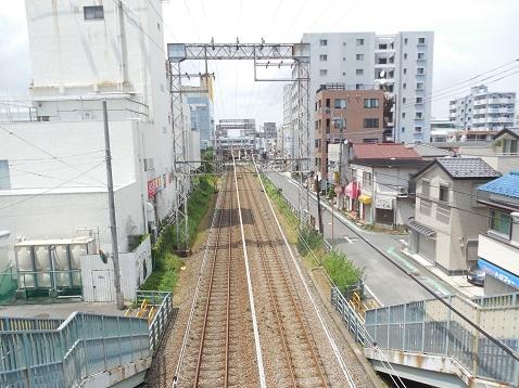 小田急江ノ島線の名前のない跨線橋@大和市e