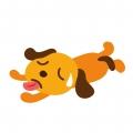暑さにバテてる犬2