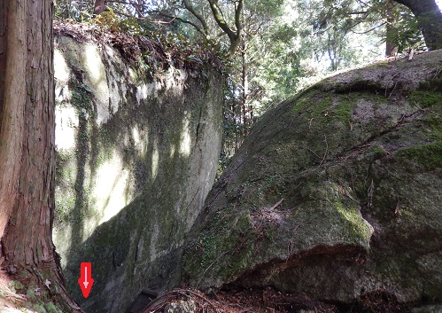 岩尾神社背部からライン